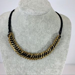 """Gold Chain Woven String/rope Necklace 22"""" long"""